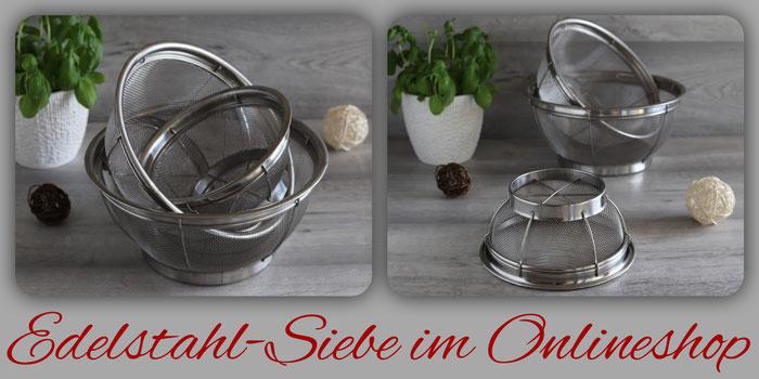 Edelstahl Siebe 3-er Set von Pampered Chef im Onlineshop kaufen