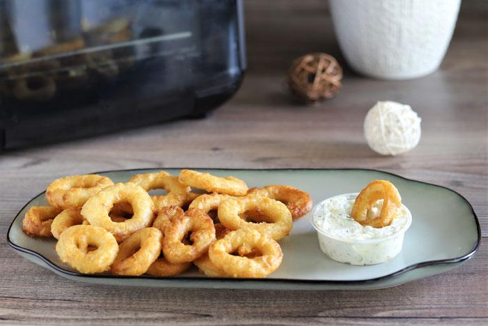 Gebackene Calamari  im Deluxe Airfryer von Pampered Chef aus dem Pampered Chef Onlineshop