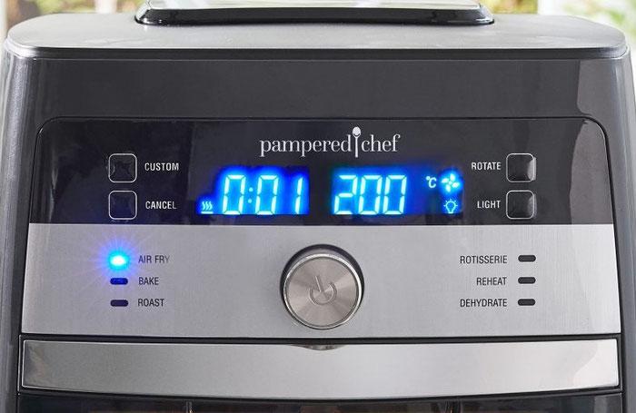 Temperatur und Einstellungen im Deluxe Air Fryer von Pampered Chef aus dem Onlineshop bestellen