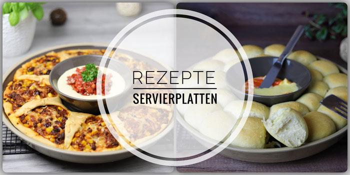 Rezepte für den Snack & Dip Set Stoneware Servierplatten von Pampered Chef
