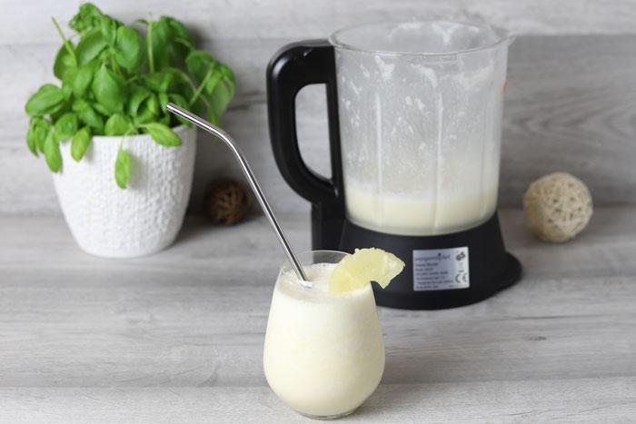 Virgin Colada ohne Alkohol wie Pina Colada Cocktail aus dem Blender von Pampered Chef im Onlineshop