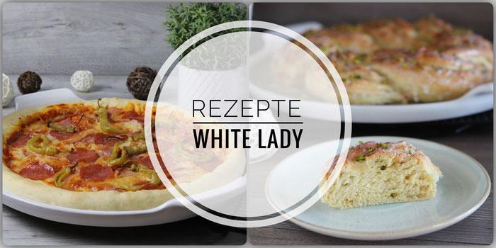 Rezepte für den großen Runden Stein, die White Lady von Pampered Chef