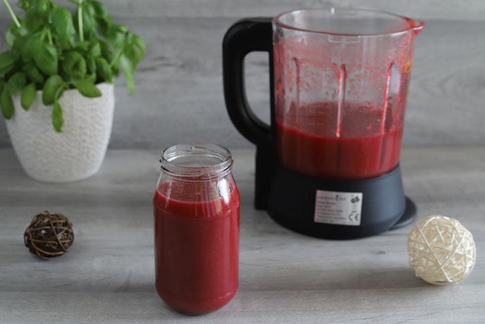 Marmelade Himbeermarmelade Erdbeermarmelade Fruchtaufstrich Konfitüre im Blender von Pampered Chef