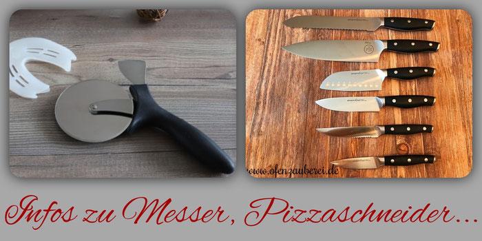 Messer, Messerblock und Pizzaschneider von Pampered Chef im Onlineshop bestellen