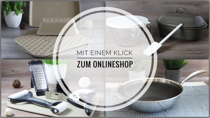 Onlineshop für Pampered Chef Ofenmeister, Teigunterlage, Kuchengitter, Handschuhe und Streufiix