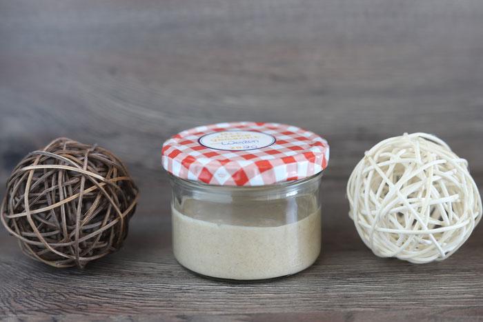 Herstellung von Weizensauerteig, Plege und Fütterung