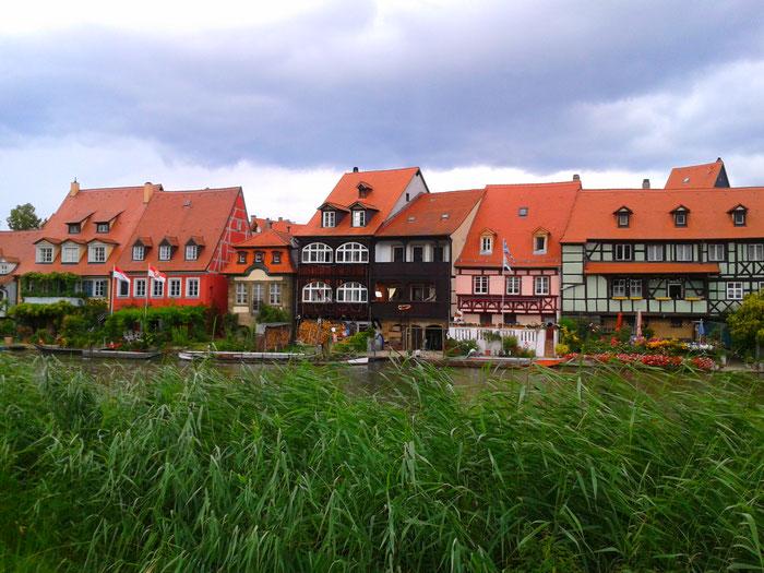 farbenfrohes Klein Venedig in Bamberg, Bayern
