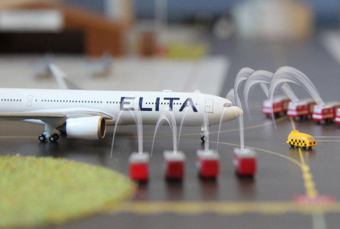 ELITAS neues Flagschiff zeigte sich erstmals zur Wiedereröffnung des Stralsunder Airports am 01. Februar.