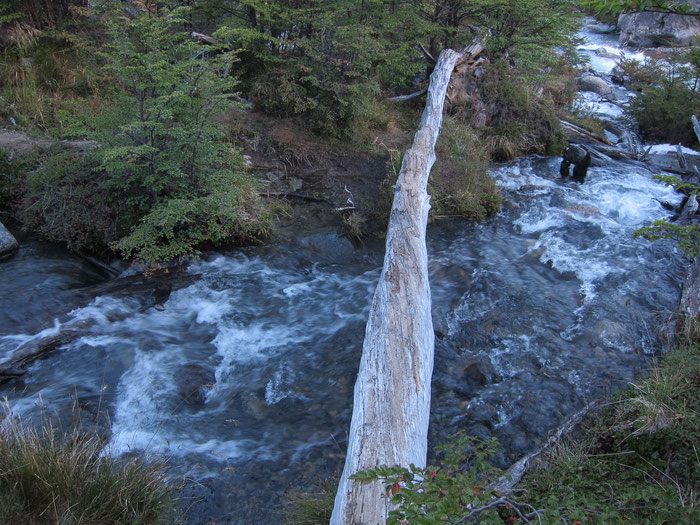 River crossing, Reserva Nacional Cerro Castillo