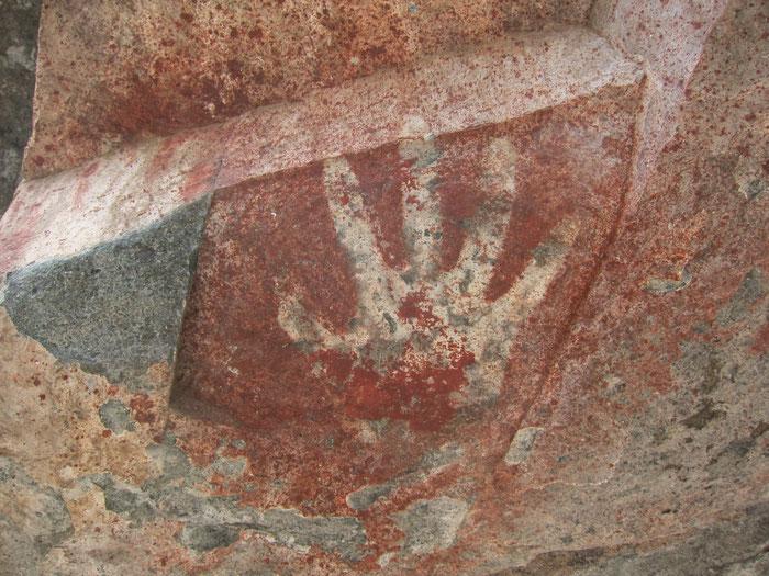 Cueva de los Manos - Negative, Villa Cerro Castillo, Aysen, Patagonia, Chile