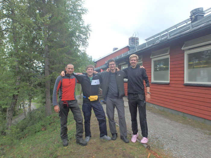 Farewell at STF Fjällstation, Kvikkjokk
