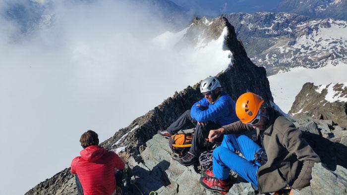Am Gipfel des Piz Bernina, 4049m