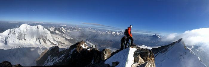 Gipfel Dufourspitze, 4634m