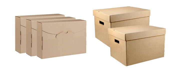 archive boxes and document boxes for office storage