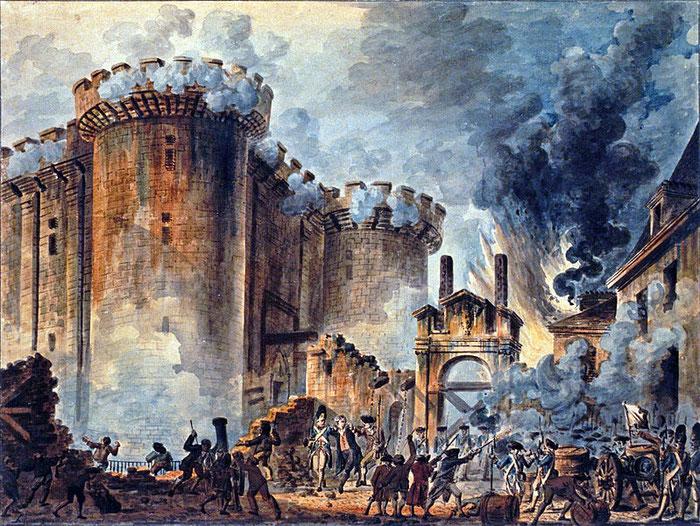 Document 11_ La prise de la Bastille par Jean Pierre Houël, 1789, estampes BNF