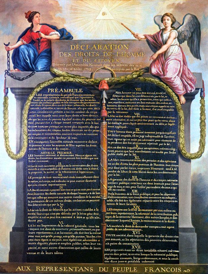 Document 12_ Déclaration des droits de l'homme et du citoyen, 26 août 1789, musée Carnavalet Paris, 1896