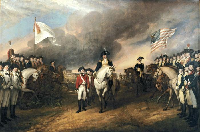 Document 7_ Capitulation du général Cornwallis à Yorktown le 19 octobre 1781, peinture de John Trumbull