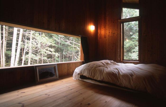 住まい塾 蓼科山荘 別荘 ロフト 寝室