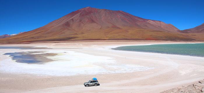 Reserva Nacional de Fauna Andina Eduardo Abaroa,  Tour von Chile nach Bolivien, 2013