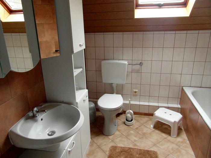Dusche/WC/Badewanne-Ferienwohnung