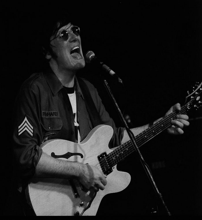 Johnny Silver as John Lennon schwarzweiss