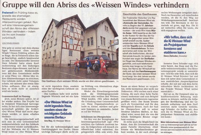 Aargauer Zeitung, 7. Dez. 2012