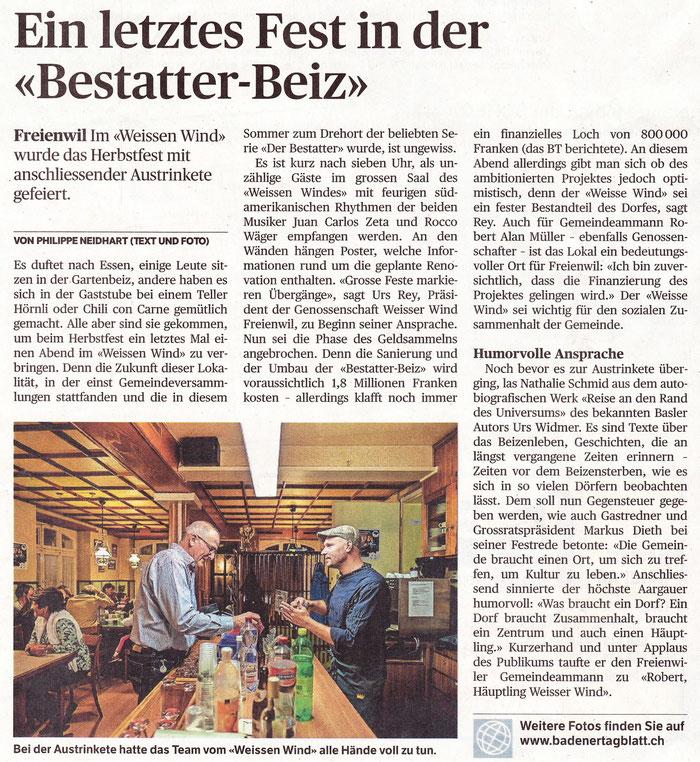 Badener Tagblatt, 29. Sept. 2015