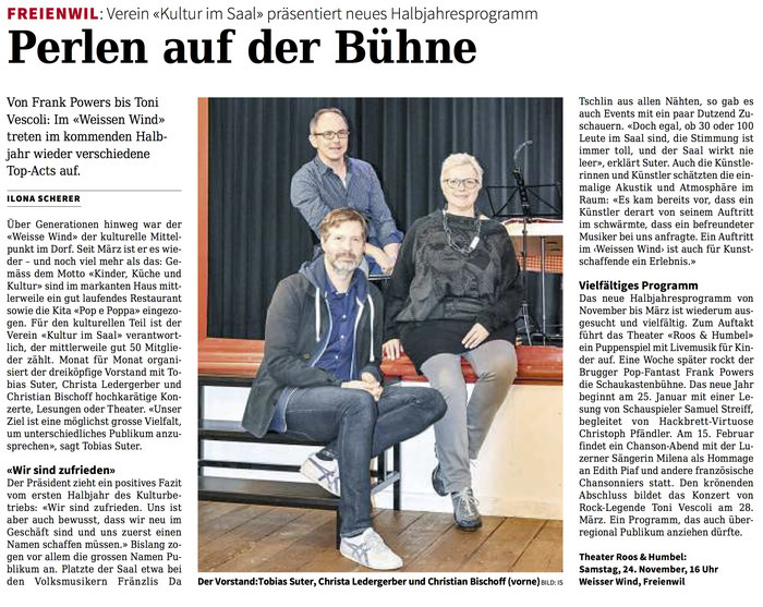 Rundschau, 22. November 2018