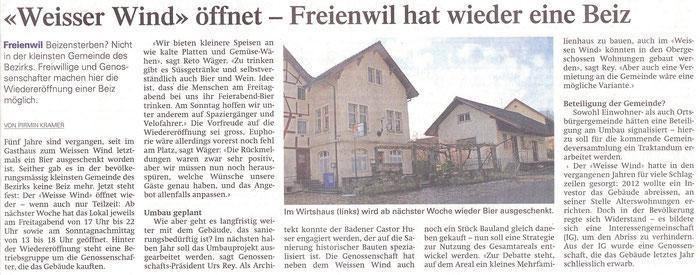 Aargauer Zeitung, 12. Juni 2014