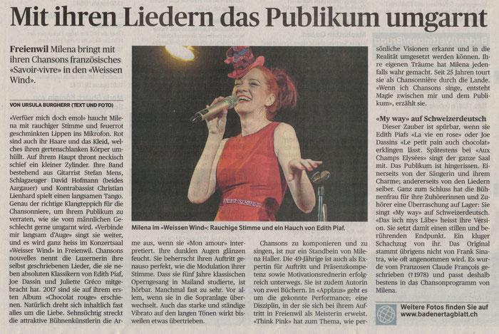 Badener Tagblatt, 18. Februar 2019
