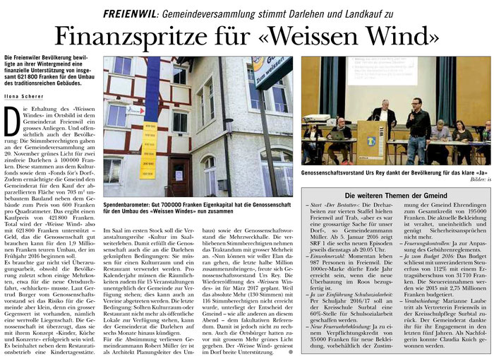 Rundschau, 26. Nov. 2015