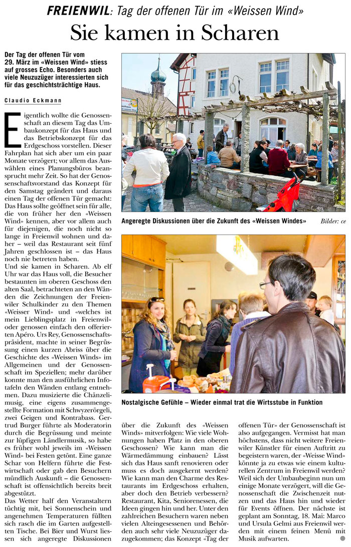 Rundschau, 3. April 2014