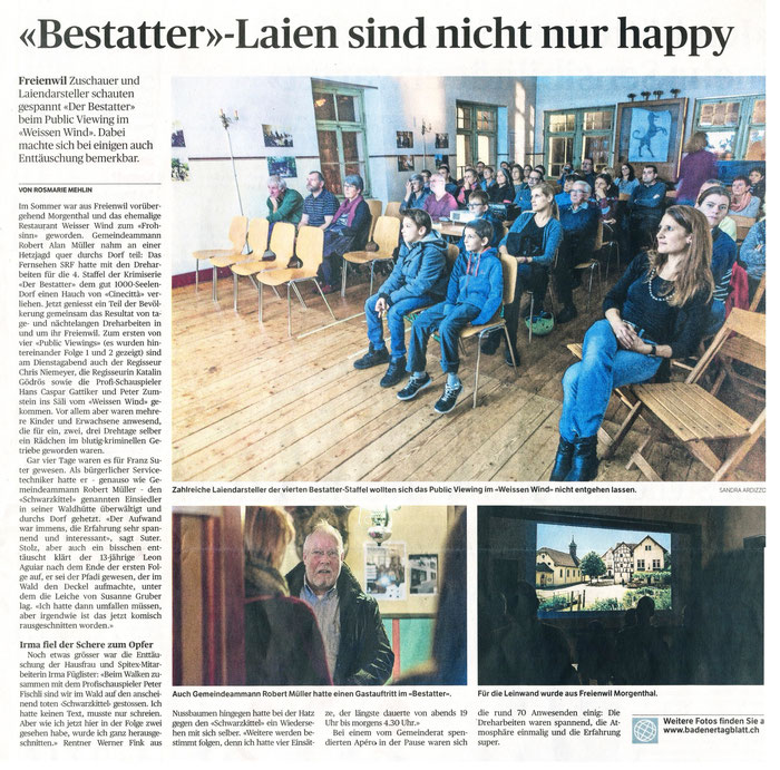 Badener Tagblatt, 14. Jan. 2016