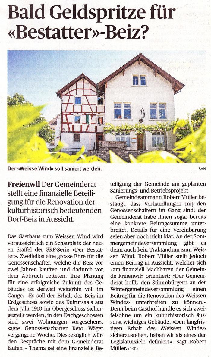 Badener Tagblatt, 28. Mai 2015