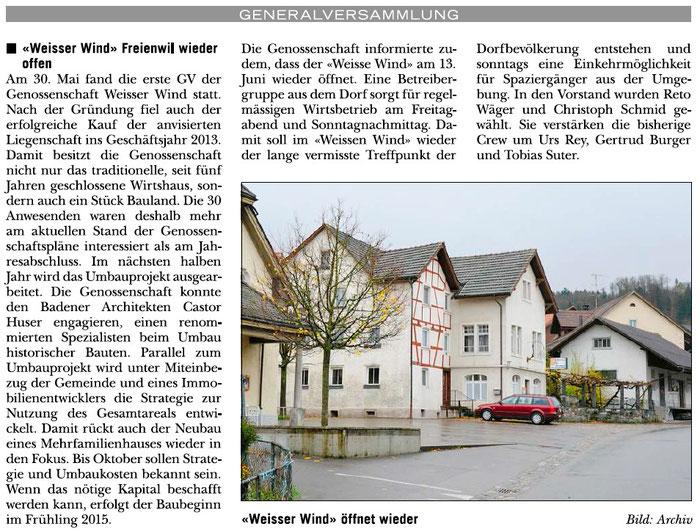 Rundschau, 5. Juni 2014