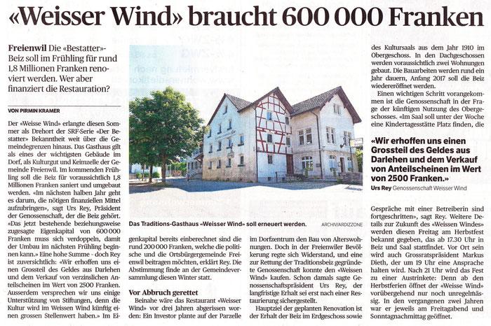 Badener Tagblatt, 22. Sept. 2015