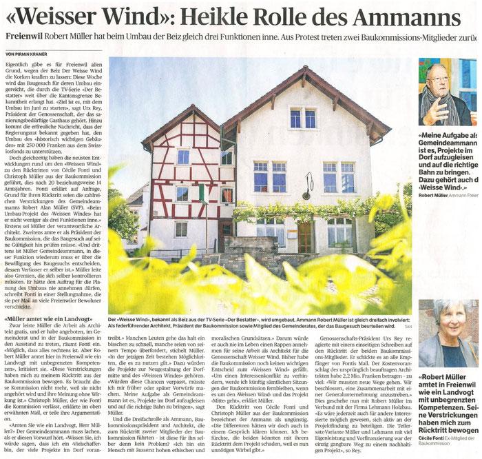 Badener Tagblatt, 30. März 2016