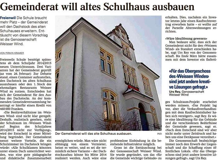 Aargauer Zeitung, 8. Mai 2013