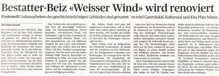 Badener Tagblatt, 27. Januar 2017