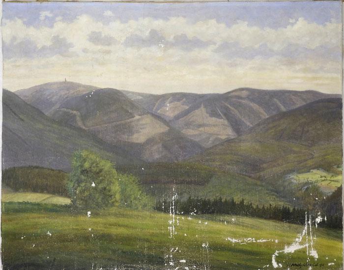 Gemälde, Kittung und Retusche, Restaurierung, Landschaft