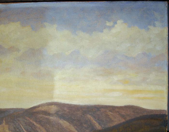 Gemäldeoberfläche, Reinigung, Abnahme der Verschmutzung
