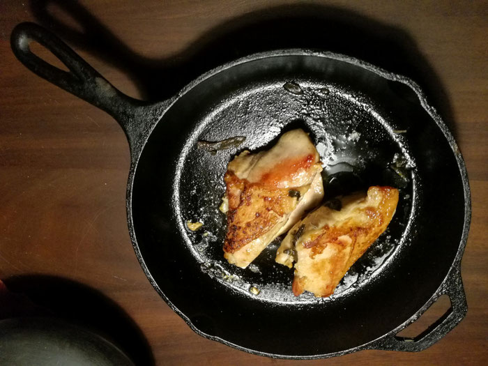 Perfectly Chicken Breast in a cast iron pan
