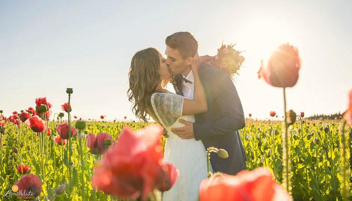 Hochzeit im Mohnfeld