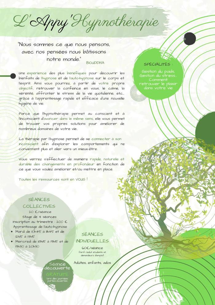 hypnose individuelle et collective / Celine Bizeul et l'Appy'Hypnothérapie ou HappyHypnothérapie