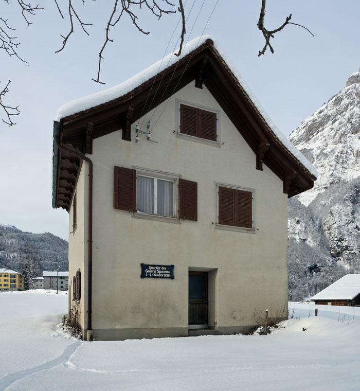 Landstrasse 97, Glarus. Koordinaten 722836 212571. Aufnahme vom 3. Februar 2015