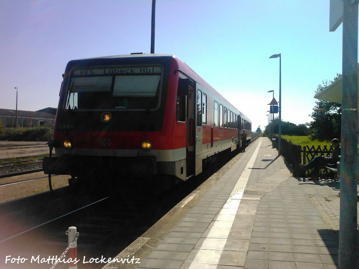 BR 628/928 Am Kreuzungsbahnhof  Reuterstadt Stavenhagen