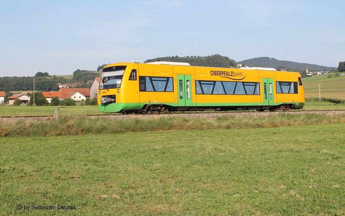 BR 650 Der Oberpfalzbahn, gehört momentan zur Regentalbahn GmbH am 18.8.12 nach Cham