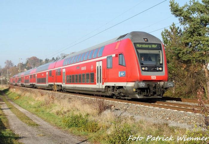 Dosto RE + 146 nach Nürnberg HBF in Creidlitz