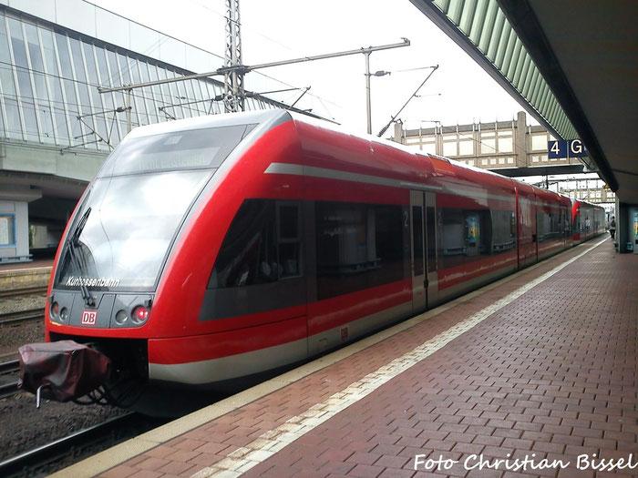 BR 646 der Kurhessenbahn im Bahnhof Kassel Wilhelmshöhe