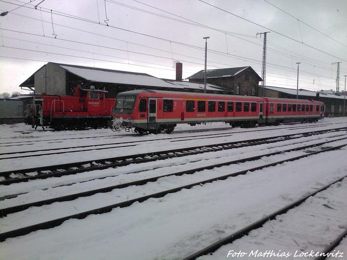 628 243 / 928 243 + BR 362 Abgestellt Im Bahnhof Stralsund Hbf